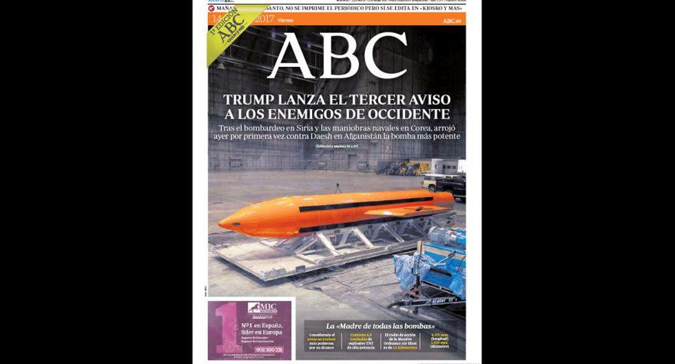 """""""La madre de todas las bombas"""" en las portadas del mundo - 2"""