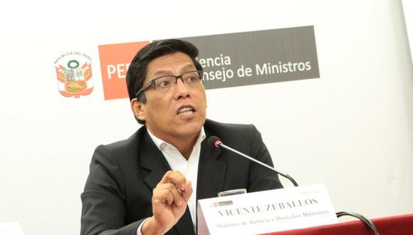 """""""Quizás para la contraloría [es un nuevo hecho]"""", afirmó Vicente Zeballos. (Foto: El Comercio)"""