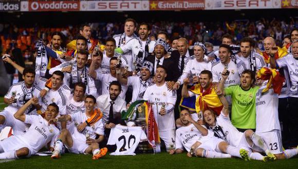 El Madrid campeón rompió la paridad en finales de Copa del Rey