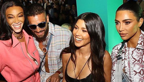 Maluma y Winnie Harlow se lucen junto a Kim y Kourtney Kardashian en el desfile de Dior en Miami. (Foto: @maluma)