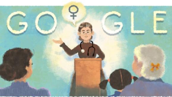 Doodle rinde homenaje a la feminista argentina Petrona Eyle. (Foto: Google)