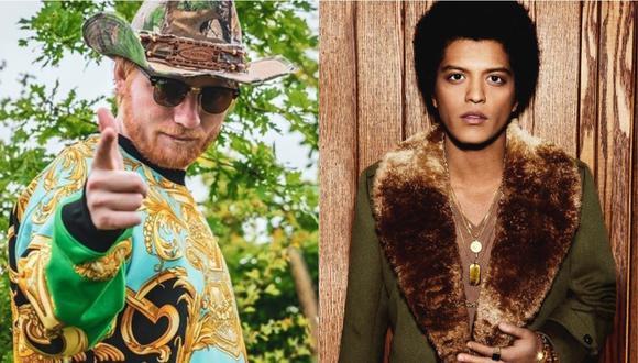 """Ed Sheeran y Bruno Mars estrenan su nueva colaboración """"Blow"""". (Foto: Instagram)"""