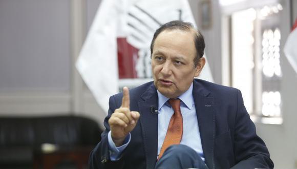 Walter Gutiérrez saludó la realización del referéndum. (Foto: El Comercio)