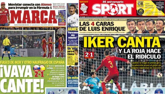 """La prensa española critica a selección: """"Naufragio, ridículo"""""""