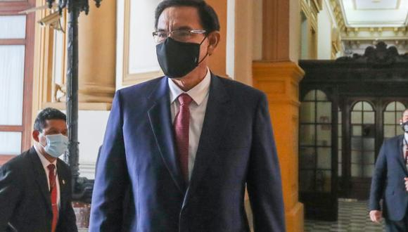 El expresidente Martín Vizcarra podría ser inhabilitado por el Congreso por el Vacunagate este viernes 16. (Foto: Congreso)
