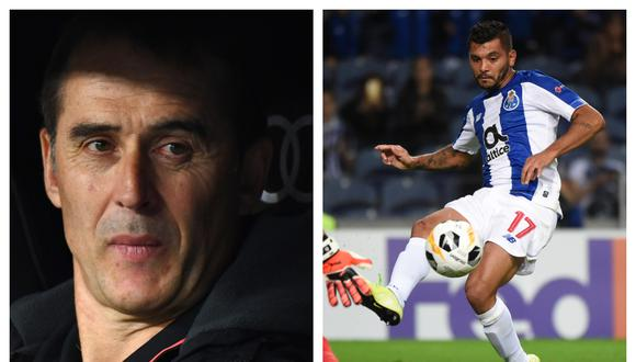 El entrenador español, que conoció al mexicano en la liga lusa, se deshizo en elogios para el 'Tecatito'. (Fotos: AFP)