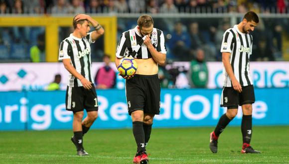 Juventus perdió ante Sampdoria y se alejó de la punta de la Serie A. (Foto: Reuters)