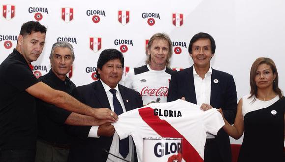 Gloria se convirtió en patrocinador oficial de la FPF. Esta firma que viene siendo conversada desde agosto del año pasado y estará vigente hasta el año 2022, tiene un objetivo de oportunidad de clasificación para los siguientes mundiales al de Rusia 2018.