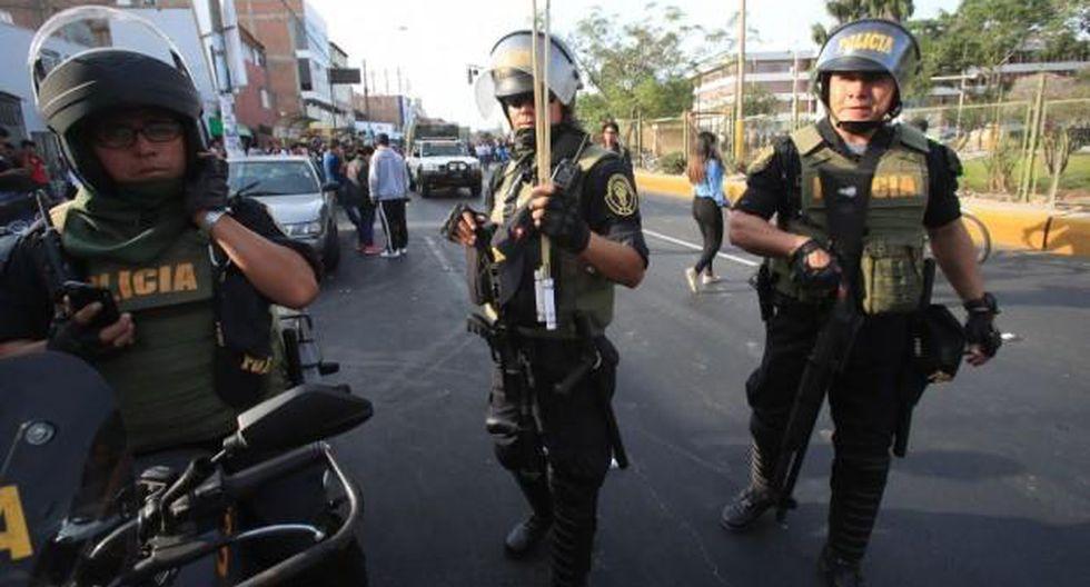 La Policía Nacional del Perú mantendrá el control del orden interno, con el apoyo de las Fuerzas Armadas. (Foto: GEC)