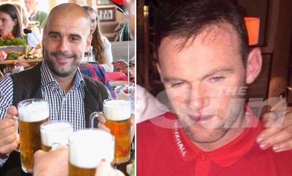 """Guardiola defiende a Wayne Rooney: """"Yo también bebí alguna vez"""""""