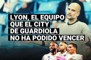 Olympique de Lyon, uno de los tres equipos a los que el Manchester City de Guardiola no ha podido vencer