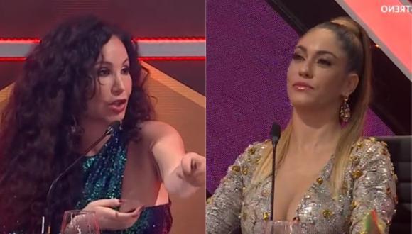 """Janet Barboza fue presentada como jurado vip en """"El Artista del año"""" y Tilsa Lozano sorprendió con reacción. (Foto: Captura América TV)."""