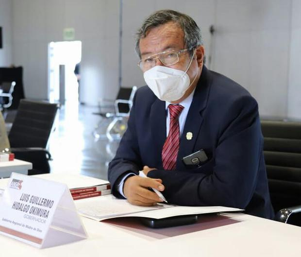 Luis hidalgo Okimura, gobernador regional de Madre de Dios (Foto: GoreMad)