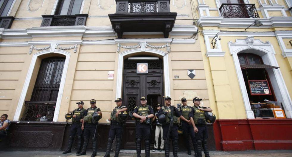 Allanamiento en local de Fuerza Popular en Paseo Colón. (Fotos: Rolly Reyna/GEC)
