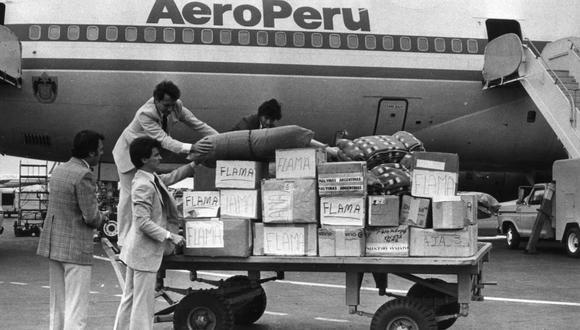 En los años 80, AeroPerú fue una de las principales empresas del país. En aquella época, buena parte de las compañías más importantes eran del Estado (Foto: Archivo El Comercio).