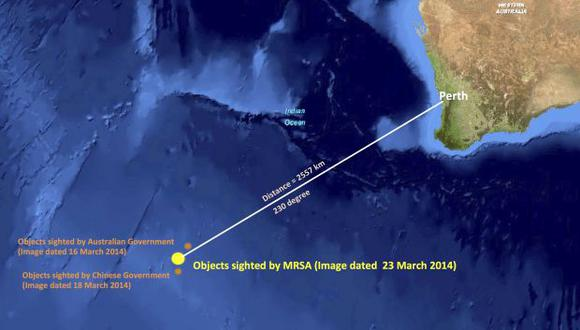 Avión desaparecido: encuentran 122 objetos flotando en el mar