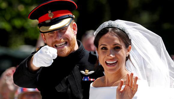 Boda del príncipe Harry y Meghan Markle en el 2018. (Foto: Reuters).