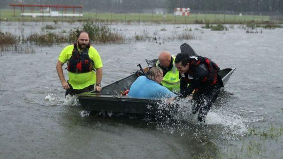 Zonas de Carolina del Norte fueron inundadas este fin de semana por el huracán Florence. (Foto: Getty)