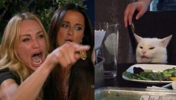 Este es el meme del gato y la mujer gritándole que causa sensación en las redes sociales | Foto: Captura / Facebook