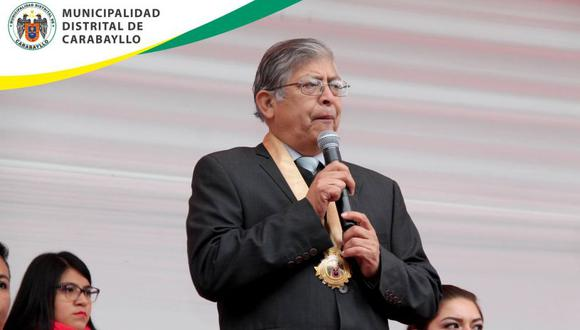 Alcalde Rafael Álvarez fue sentenciado por el delito de colusión. (Facebook Municipalidad de Carabayllo)