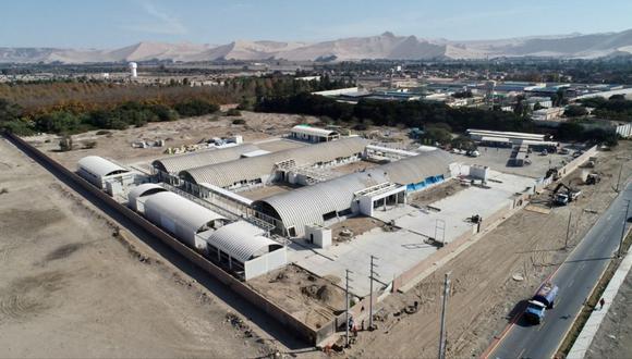 Así es como está quedando el primer hospital modular del país en Ica | Foto: Minsa