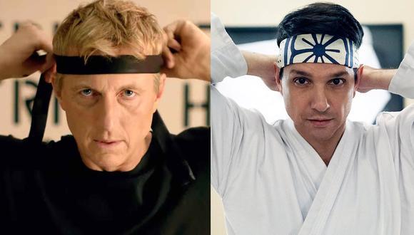 """""""Cobra Kai"""". De izquierda a derecha Johnny Lawrence (William Zabka) y Daniel Larusso (Ralph Macchio), eternos rivales 34 años después. (Foto: YouTube)"""