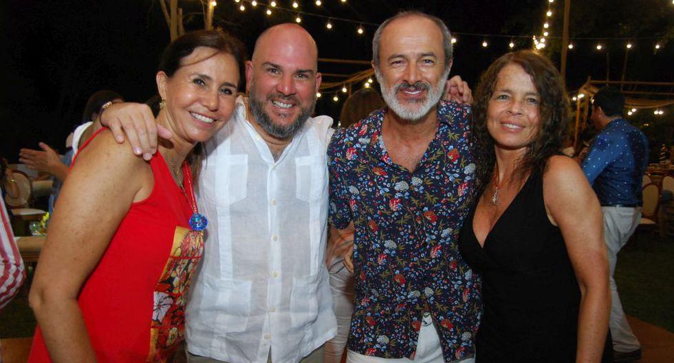 Julie Freundt, Renzo Valverde, Carlos Alcántara y Josie Lindley.