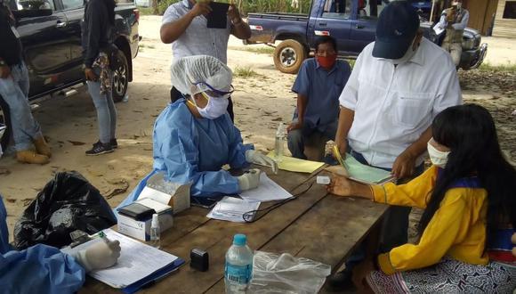 En la comunidad Shipibo-Konibo de San Francisco se realizaron pruebas rápidas y moleculares.