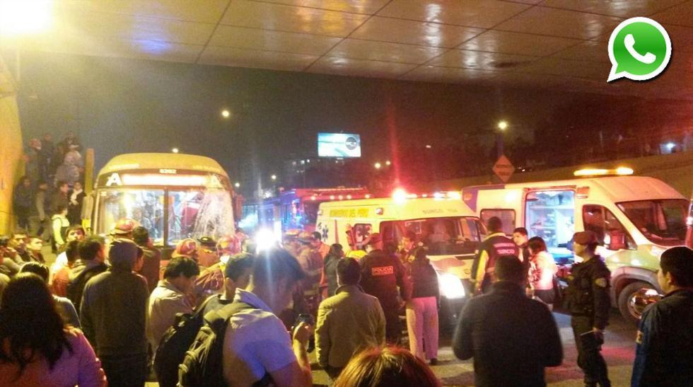 Choque de buses dejó varios heridos en Panamericana Sur [FOTOS] - 1