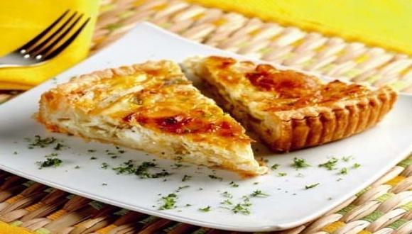 Quiche de cebolla y queso