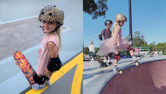 Un video viral catapultó a la fama en redes sociales a una niña australiana amante del skateboarding y su asombroso talento con la patineta. | Crédito: @paigeetobin / Instagram