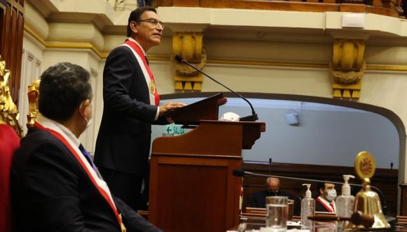 Nueve líderes parlamentarios analizaron el último mensaje a la Nación, donde la mayoría destacó el anunciado Pacto Perú, pero un gran sector criticó que el jefe de Estado no haya realizado un mea culpa sobre los errores cometidos durante la pandemia. (Foto: Presidencia)
