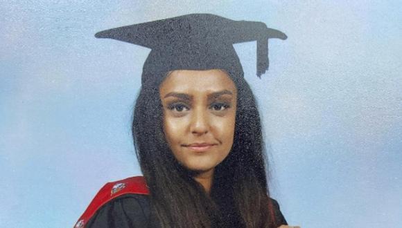 Eta imagen sin fecha proporcionada por la Policía Metropolitana de Londres muestra a Sabina Nessa. La policía británica detuvo a un hombre sospechoso de asesinar a la maestra de primaria. (Policía Metropolitana via AP).