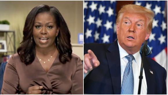 Donald Trump respondió a los ataques de Michelle Obama en la Convención Nacional Demócrata del lunes. (Foto: MANDEL NGAN / AFP).
