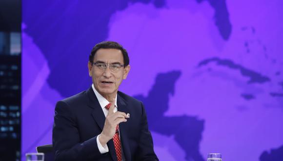 """El presidente Martín Vizcarra, en una entrevista con el programa """"Punto Final"""", de Latina, el pasado domingo 4 de octubre. (Foto: Presidencia)."""