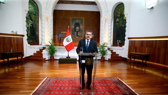 Fiscalía de la Nación dispuso declarar compleja la investigación contra Manuel Merino, Ántero Flores-Araoz y Gastón Rodríguez. (Foto: Presidencia)