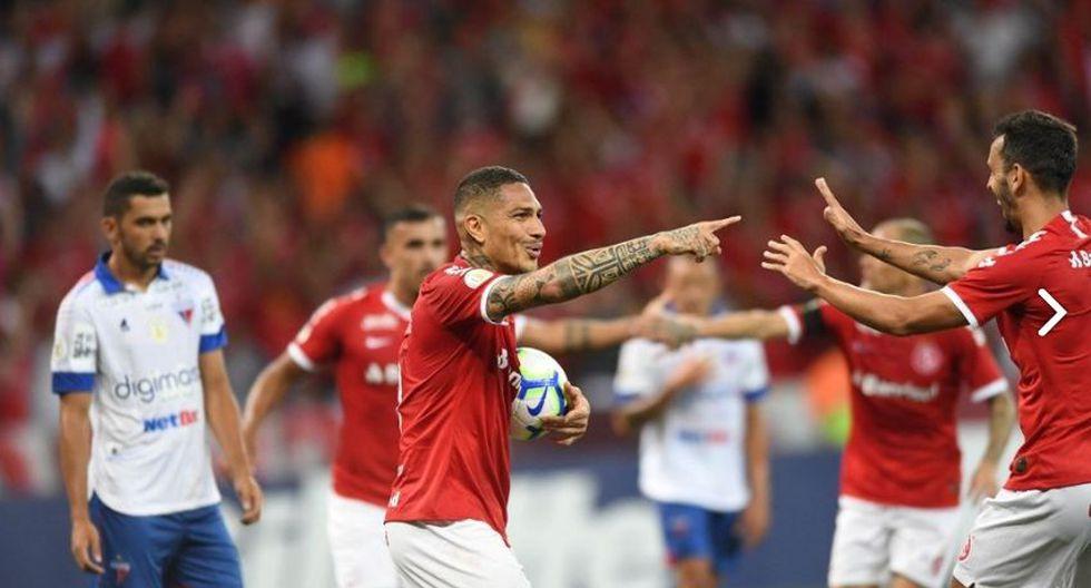 Paolo Guerrero volvió al gol luego de casi un mes. Marcó dos tantos en el empate ante Fortaleza. (Foto: Inter)