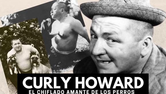 Curly Howard no solo es recordado por su talento para la comedia con Los Tres Chiflados sino como el rey de los 'dog lovers'.| Crédito: threestooges.com / Composición.