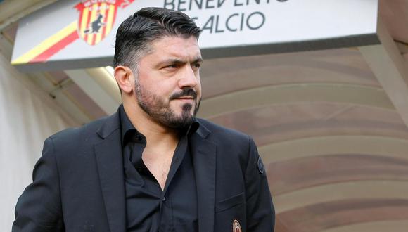 Gennaro Gattuso estaba a segundos de obtener su primer triunfo como entrenador del AC Milan. Sin embargo, el guardameta del Benevento anotó el empate y amargó su debut en el banquillo rossonero. (Foto: AFP)