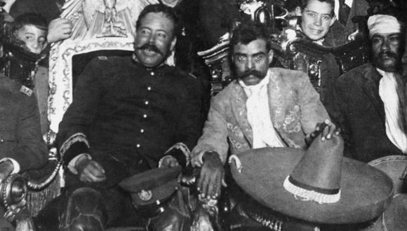 Pancho Villa y Emiliano Zapata fueron dos de los líderes más carismáticos de la Revolución Mexicana. (Getty Images).