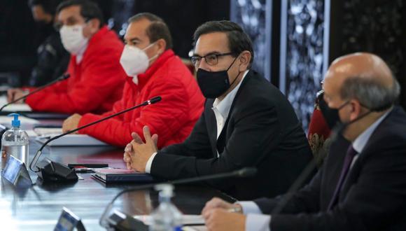 Martín Vizcarra ha dado un nuevo pronunciamiento desde Palacio de Gobierno hoy 12 de agosto, anunciando nuevas medidas sobre el Coronavirus en Perú.   Foto: Presidencia Perú