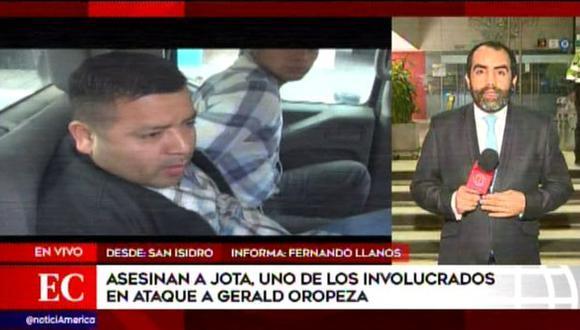 Junior Tarazona Acher fue asesinado por un sicario en un sauna de San Isidro. (América Noticias)