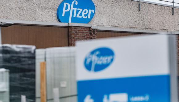 Sede de la compañía Pfizer en Bélgica. (Foto: JONAS ROOSENS / BELGA / AFP)