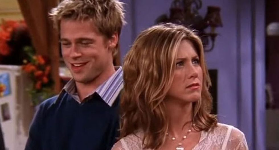 "Brad Pitt y Jennifer Aniston trabajaron en la serie ""Friends"". (Foto: Captura NBC)"