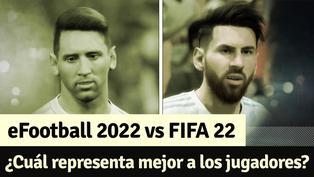 eFootball 2022 vs FIFA 22: comparación de rostros de los jugadores de ambas series