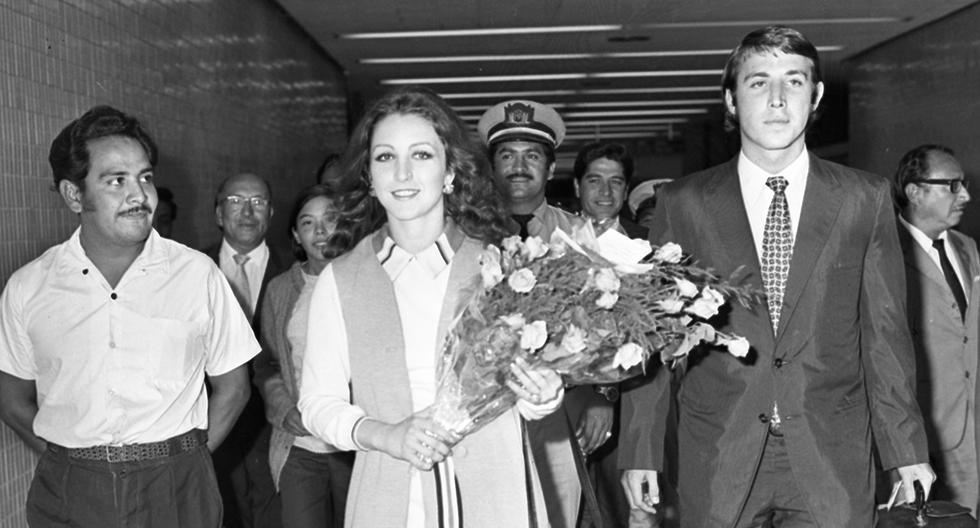 La actriz mexicana Angélica María llega al aeropuerto Jorge Chávez el 5 de marzo de 1971. Foto: GEC Archivo Histórico