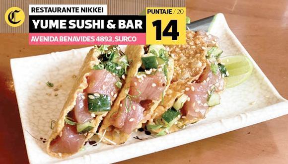Estos son algunos de los platos que ofrece Yume Sushi & Bar. (Foto: El Comercio)