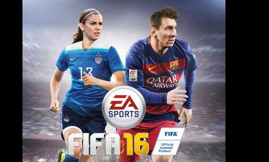 Alex Morgan será portada del FIFA 16 junto a Lionel Messi