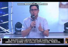 EEG: Gian Piero Díaz hace fuerte llamado de atención a los combatientes