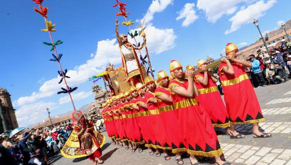 Cusco. El Inti Raymi o la Fiesta del Sol fue institucionalizada en Cusco desde el año 1944. (FOTO: Juan Sequeiros)